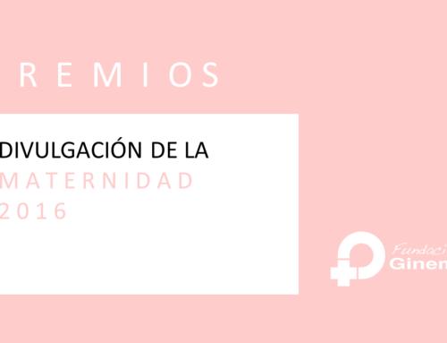 Premio a la divulgación de la maternidad 2016